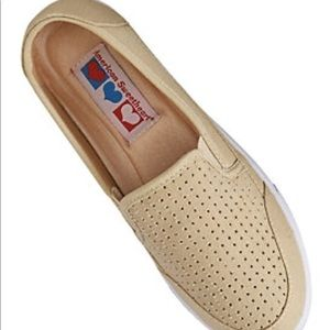 NEW American Sweetheart Perforated Canvas Slip-ons